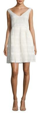 RED Valentino Pleated Lace Dress $750 thestylecure.com