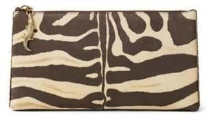 Ralph Lauren Zebra-Print Suede Pouch Zebra One Size