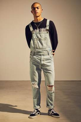 BDG Destructed Ice Wash Denim Overall $84 thestylecure.com