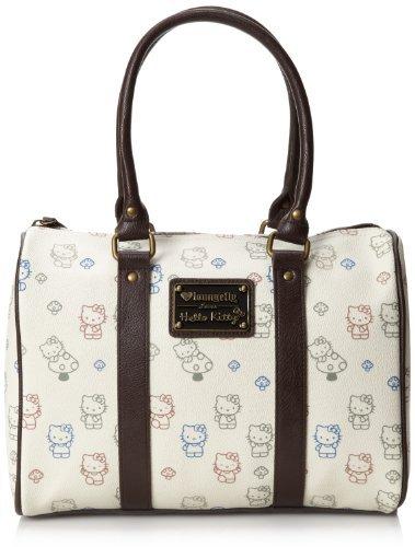 Hello Kitty Allover Print Mushroom Duffle Top Handle Bag