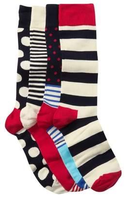 Happy Socks Assorted Crew Socks Gift Box - Pack of 4