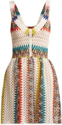 Missoni MARE Riato zig-zag knit mini dress