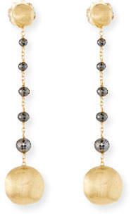 Marco Bicego 18k Africa Raw Black Diamond Drop Earrings