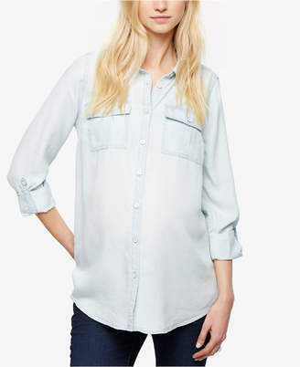 A Pea in the Pod Maternity Chambray Button-Down