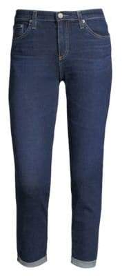 AG Jeans Prima Mid-Rise Roll Up Cigarette Jeans