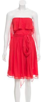 Halston Strapless Silk Dress w/ Tags