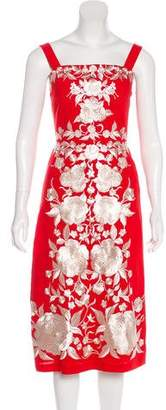 Catherine Deane Embroidered Midi Dress
