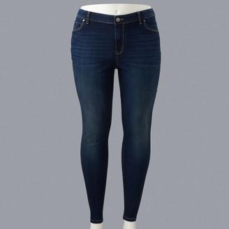 Vera Wang Plus Size Simply Vera Skinny Denim Jeans