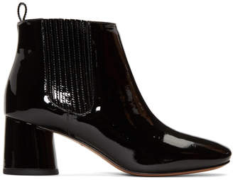 Marc Jacobs Black Patent Rocket Chelsea Boots