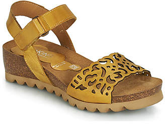 Dorking 7847 women's Sandals in Yellow