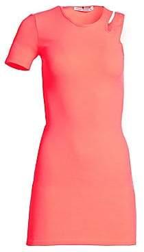 Alexander Wang Women's Asymmetric Bodycon Mini Dress