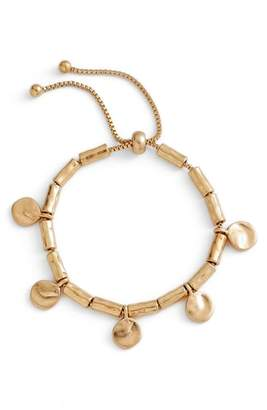 Treasure & Bond Organic Summer Metals Sliding Disc Bracelet