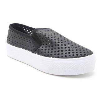 Qupid Stardust Womens Sneakers Slip-on