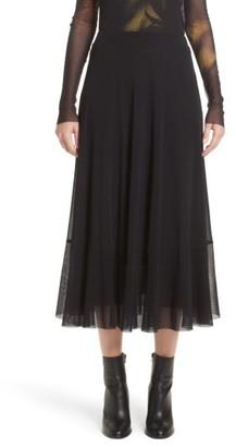 Women's Fuzzi Tulle Midi Skirt $325 thestylecure.com