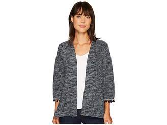 Bobeau B Collection by Maren Kimono Jacket with Trim Women's Jacket
