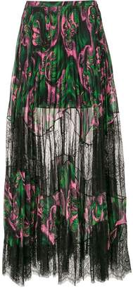 McQ sheer pleated skirt