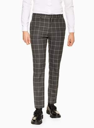 TopmanTopman Charcoal Windowpane Skinny Trousers