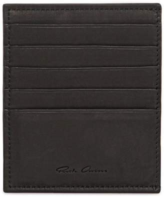 Rick Owens Ponyskin & Leather Credit Card Holder