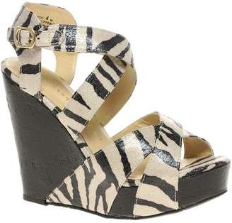 Chinese Laundry Zebra Print Wedge Sandal