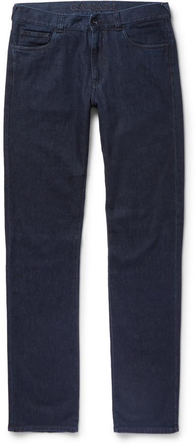 CanaliCanali Stretch Cotton and Cashmere-Blend Denim Jeans