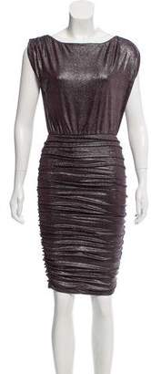 Alice + Olivia Metallic Ruched Dress