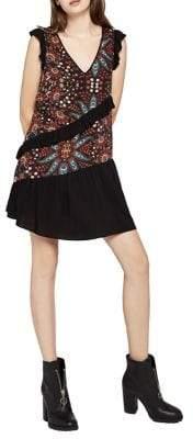 BCBGeneration Bohemian Bandana-Print Ruffle Dress
