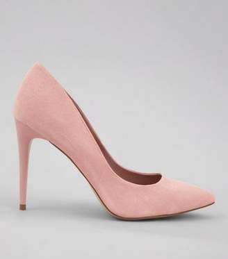 ef4ad84bc89e New Look Pink Suedette Pointed Court Shoes