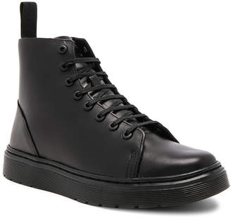 Dr. Martens Talib 8 Eye Leather Boots in Black | FWRD