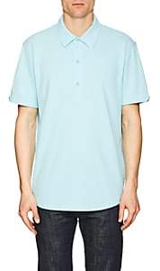 Orlebar Brown MEN'S SEBASTIAN COTTON PIQUÉ POLO SHIRT-LT. BLUE SIZE XS