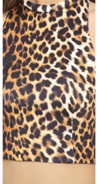 Nicholas Jungle Leopard Crop Top