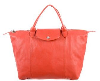 Longchamp Le Pliage Cuir Medium Bag