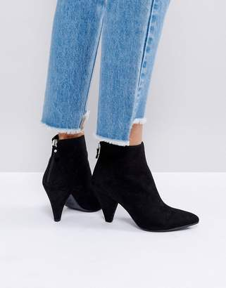New Look Suedette Cone Heeled Ankle Boot