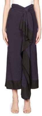 Dries Van Noten Pareo Ruffled Skirt