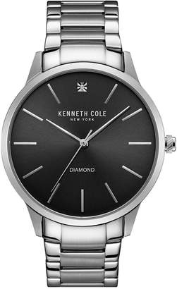 Kenneth Cole New York Men's Diamond Accent Stainless Steel Bracelet Watch 43mmx50mm 10031280