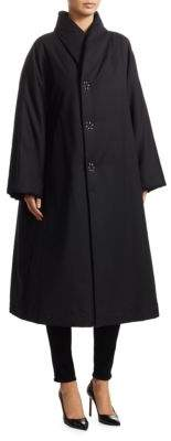 Comme des Garcons A-Line Wool-Blend Coat