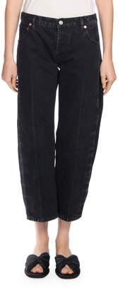 Balenciaga Denim Rockabilly Jeans, Black