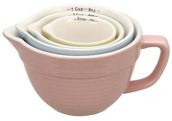 Home Decorators Collection 4-Piece Stoneware Measuring Cup Set in Multiple Colors
