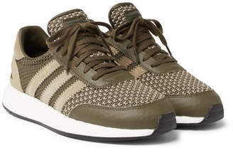 adidas Consortium + Neighborhood I-5923 Suede And Leather-Trimmed Stretch-Knit Sneakers