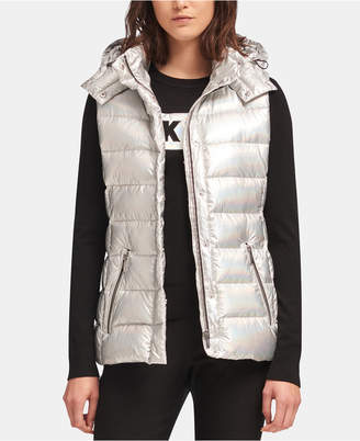 DKNY Hooded Quilted Vest