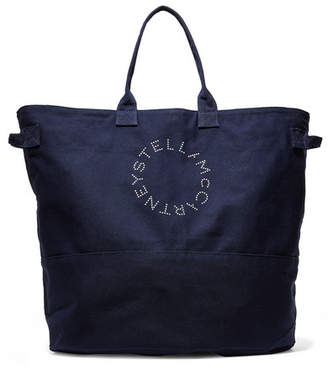 Stella McCartney Printed Cotton-canvas Tote - Navy