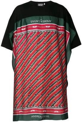 Andrea Crews long striped T-shirt