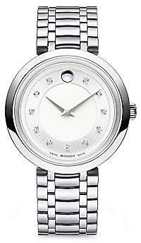 Movado Women's 1881 Round Case Stainless Steel Bracelet Quartz Analog Watch