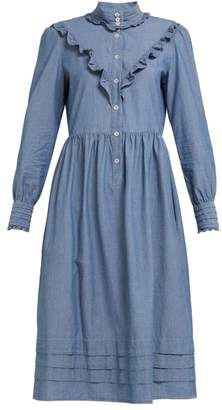 A.P.C. Nicks Chambray Midi Dress - Womens - Denim