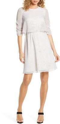 AVEC LES FILLES Popover Chiffon Dress