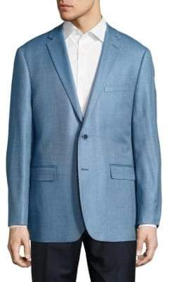 Vince Camuto Classic Fit Hopsack Silk-Blend Sportcoat