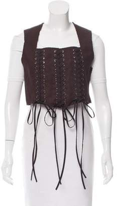 Tome Wool Lace-Up Vest w/ Tags
