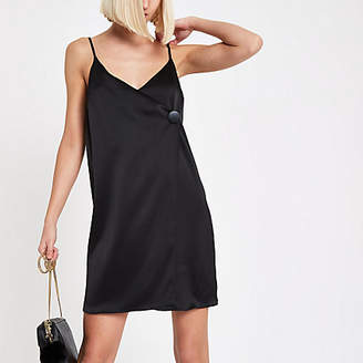 River Island Black button cami swing dress