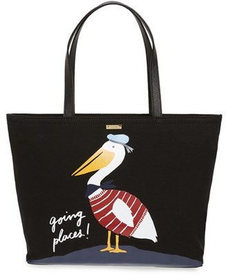 Kate Spade New York 'expand Your Horizons - Pelican Francis' Canvas Tote $198 thestylecure.com