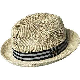 05705746 Bailey Of Hollywood Men's Berle Fedora Trilby Hat with Striped Band
