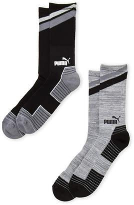 Puma Two-Pack Cushioned Crew Socks